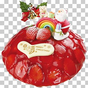 Strawberry Frozen Dessert Christmas Ornament Christmas Day PNG