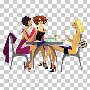 Ladies Who Lunch Woman Dinner PNG
