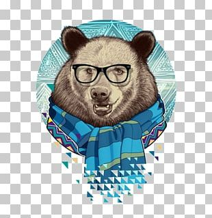 Bear Painting Design Illustration Drawing PNG