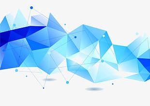 Blue Light-emitting Pattern PNG