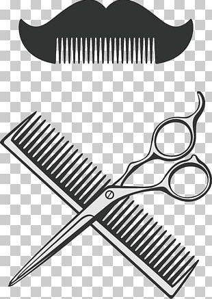 Comb Scissors Barber PNG