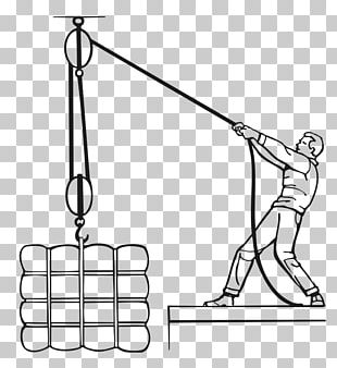 Block And Tackle Pulley Rope Hoist PNG