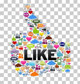 Social Media Marketing Like Button PNG