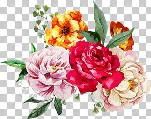 Watercolour Flowers Flower Bouquet Watercolor Painting Floral Design PNG