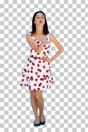 Polka Dot Cocktail Dress Cocktail Dress Fashion PNG