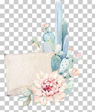 Cactaceae Succulent Plant Watercolor Painting Textile PNG