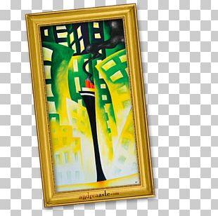 Frame Modern Art Yellow PNG