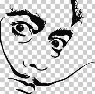Dali's Mustache Drawing Wall Decal PNG