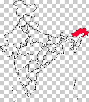 States And Territories Of India Blank Map Indian General Election PNG