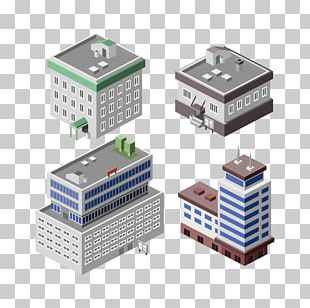 Building Isometric Projection Office Illustration PNG