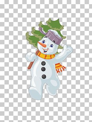 Santa Claus Christmas Snowman Cartoon PNG