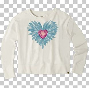 Long-sleeved T-shirt Watercolor Painting Common Daisy PNG