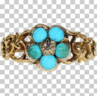 Turquoise Ring Brooch Jewellery Estate Jewelry PNG