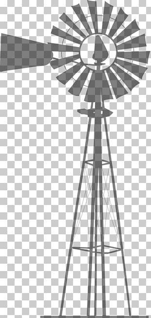 Wind Farm Windmill Silhouette Wind Turbine PNG