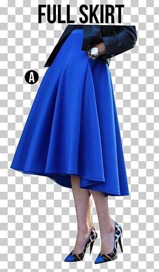 Cobalt Blue Waist Skirt PNG