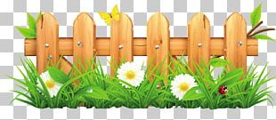 Picket Fence Flower Garden Lawn PNG