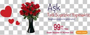 Garden Roses Floral Design Vase Flower Cam Vazo PNG