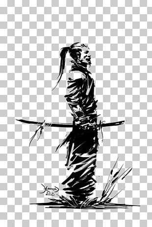 Samurai Drawing Art Warrior Katana PNG