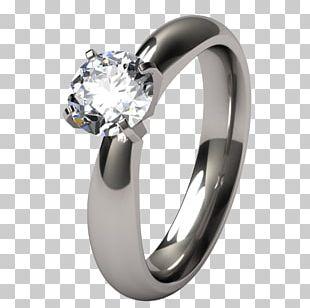 Engagement Ring Wedding Ring Titanium Ring Diamond PNG