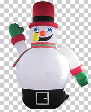 Inflatable Snowman Santa Claus Christmas Day Christmas Decoration PNG