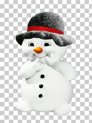 Snowman Black Hat PNG