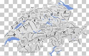 Swiss Alps Geography Of Switzerland Swiss Plateau Map PNG