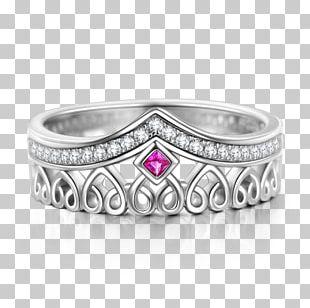 Ring Ruby Silver Tiara Crown PNG