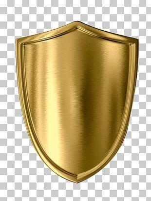 Shield Gold Stock Illustration PNG