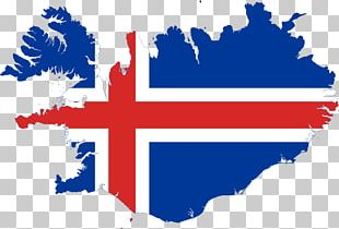 Flag Of Iceland Map PNG