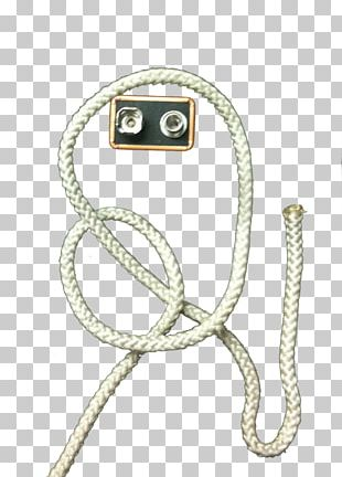 Bowline Knot Rope Chain Necktie PNG