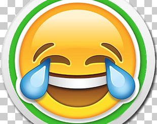Face With Tears Of Joy Emoji IPhone Sticker PNG