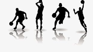 Basketball Players Silhouette PNG