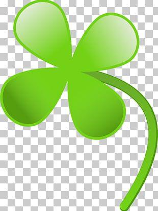 Four-leaf Clover Saint Patrick's Day PNG