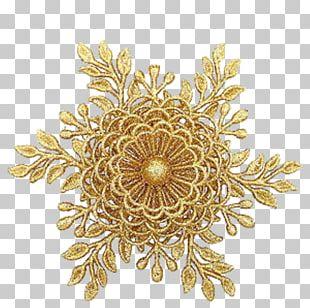 Gold Christmas Ornament Jewellery Pandora Flower PNG