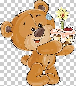 Birthday Cake Teddy Bear PNG