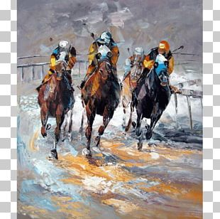 Horse Oil Painting Canvas PNG
