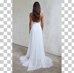 Wedding Dress Neckline Train PNG