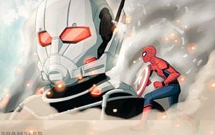 Hank Pym Spider-Man Ant-Man Captain America Iron Man PNG