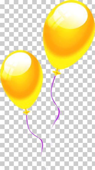 Yellow Balloon Cartoon Drawing PNG