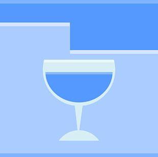 Blue Diagram Liquid Drinkware PNG
