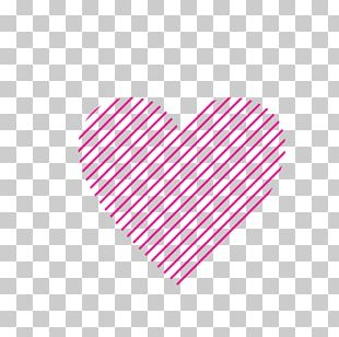 Line Pink M Heart Font PNG