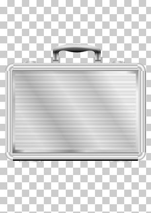 Briefcase Metal Silver PNG