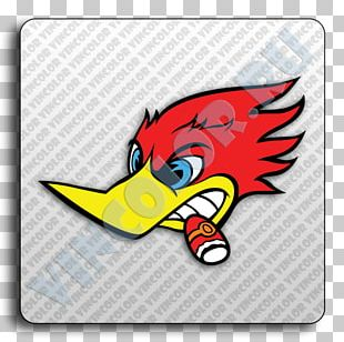 Woody Woodpecker Racing Cartoon PNG