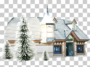 Snowman Animation House PNG