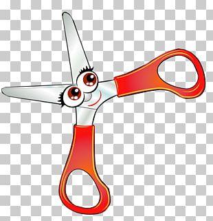 Scissors Cartoon School Supplies PNG