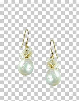 Pearl Earring Gold Jewellery Rhodium PNG