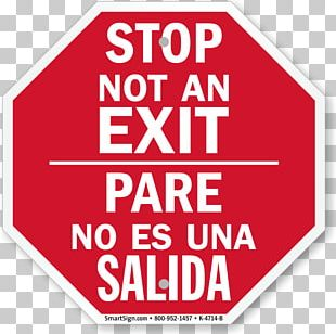 Exit Sign Stop Sign Bilingual Sign Sticker PNG