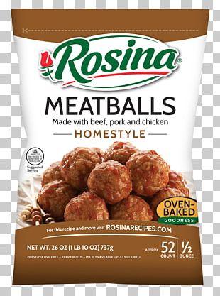 Meatball Marinara Sauce Rosina Food Products Pasta Italian Cuisine PNG