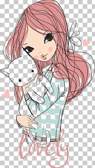 Cat Girl Cuteness Drawing Shutterstock PNG