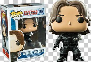 Bucky Barnes Captain America Iron Man Funko Designer Toy PNG